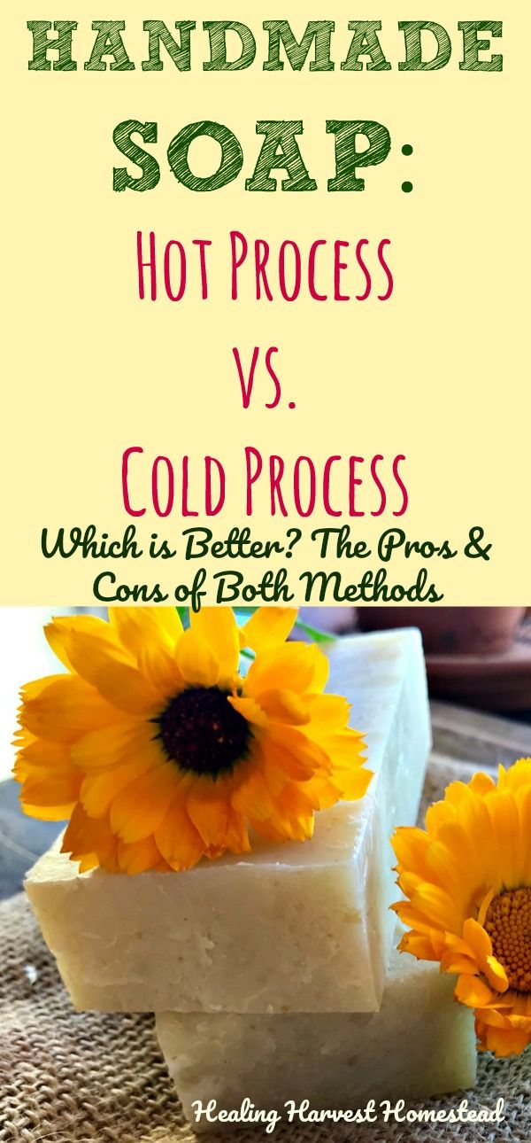 Usually when people start out making their own soap, they quickly realize they like one way or the other best: Hot Process or Cold Process. After having made soap using both soap making methods, I get asked this question I get all the time: Which is the best way to make soap? Hot process or cold process? Here are the pros and cons for both methods. Then YOU can decide for yourself in this debate! Hot Process vs. Cold Process Soap: Which is the best way?
