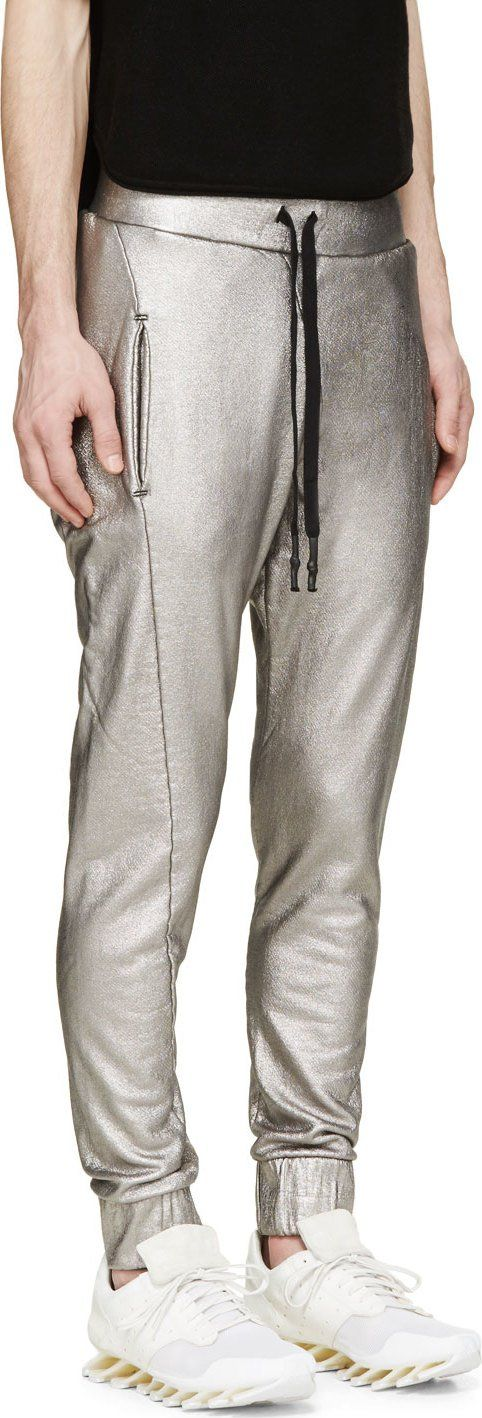 11 by Boris Bidjan Saberi Silver Foil Lounge Pants
