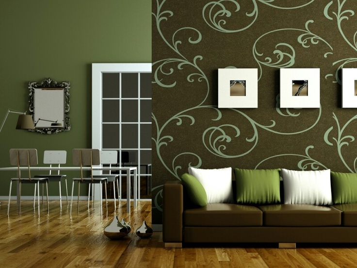 Blue Green And Brown Living Room Flat