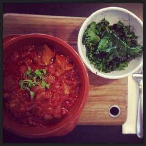 Braised Lamb and Kale, Third Wave Cafe