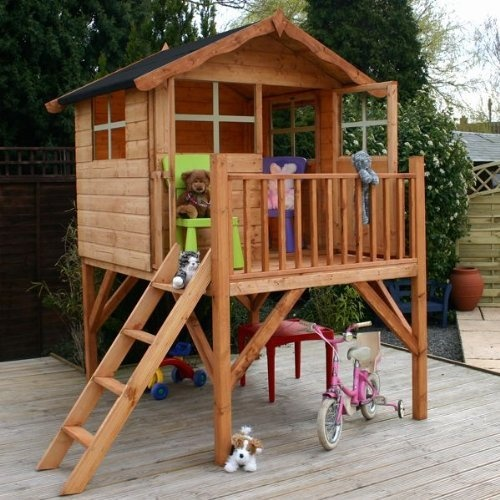 Waltons 7 x 5 honeypot poppy tower playhouse by walton garden buildings http