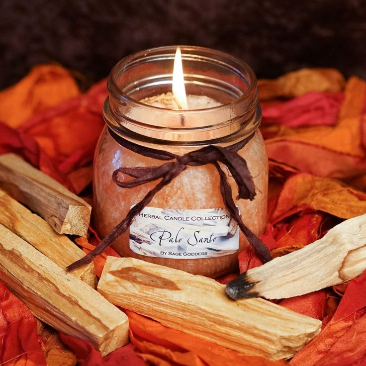 Palo Santo Herbal Candles for natural aromatic clearing ~ @sagegoddess #candles #palosanto #sagegoddess