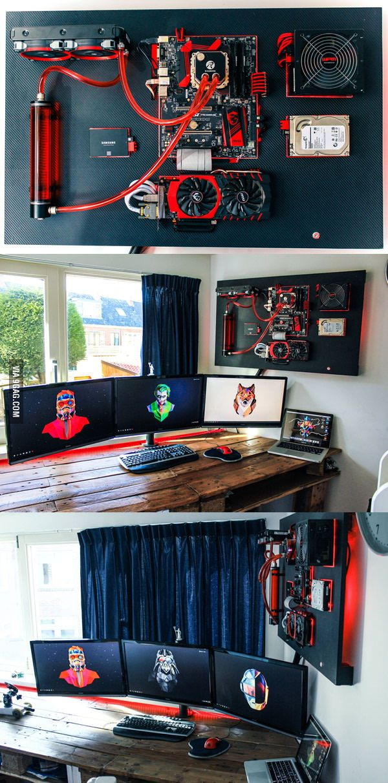 Wall mounted PC