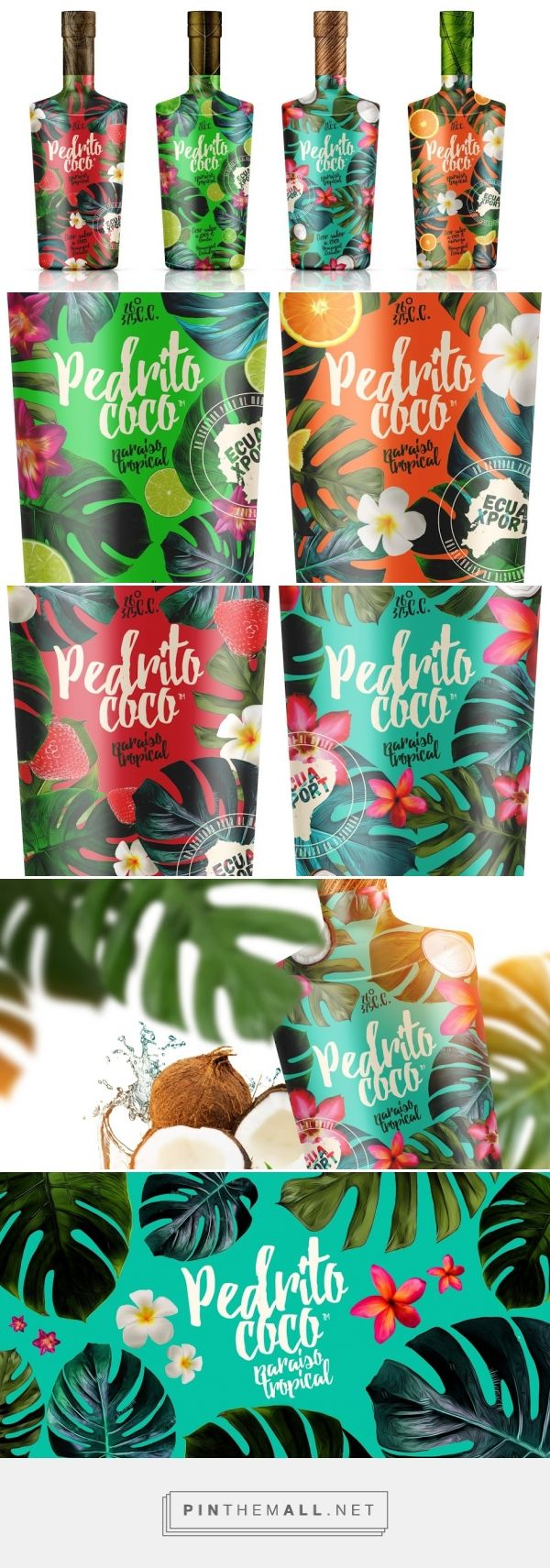 Pedrito Coco (Concept) / Pedrito Coco is a coconut-flavored liquor from Ecuador by Pulsum Brands