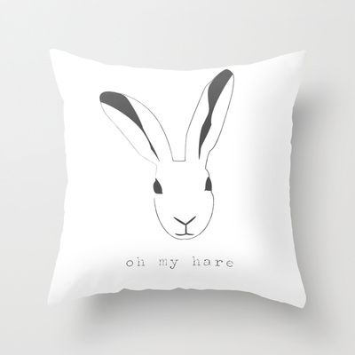 Oh my hare! Throw Pillow by radis - $20.00