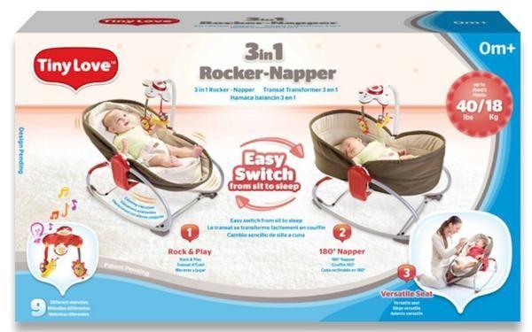 Tiny Love 3-in-1 Rocker-Napper - Brown