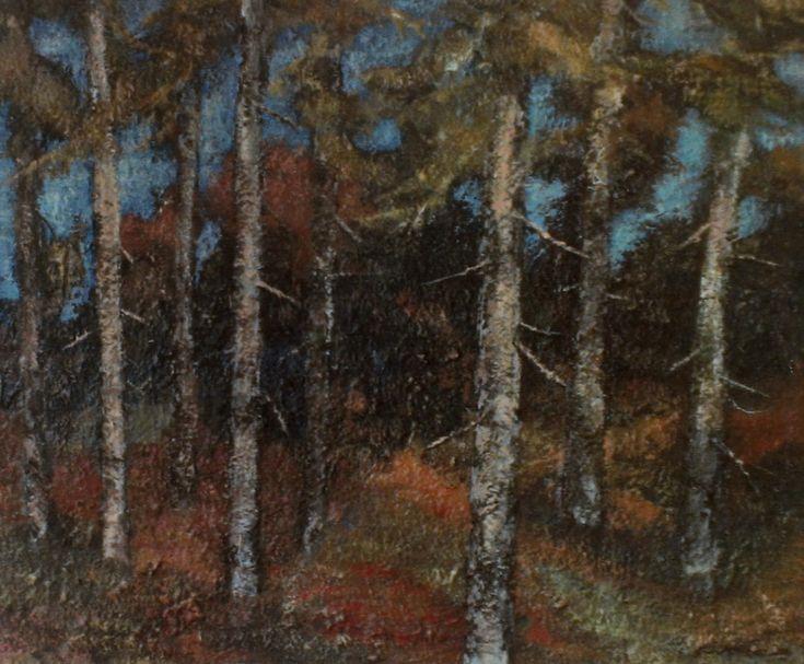 Sunny autumn day  oil on canvas 1995