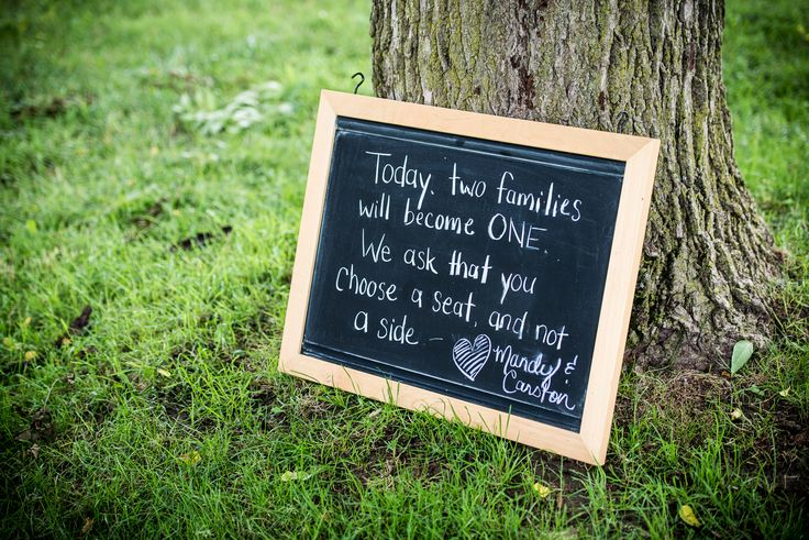 Unique signs to personalize for an outdoor rustic wedding.