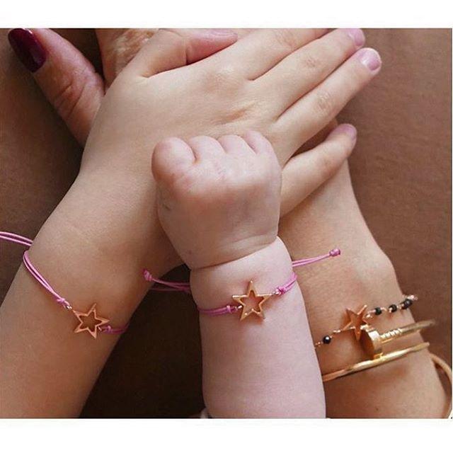 The s w e e t e s t 🌸 our baby collection Bianca and Sandra Bracelet ⭐️ #newcollection2017 #happymorethanever #m⭐️magioiellibaby #m⭐️magioielliaroundtheworld  thanks to our lovely and beautiful @hannahstraffordtaylor