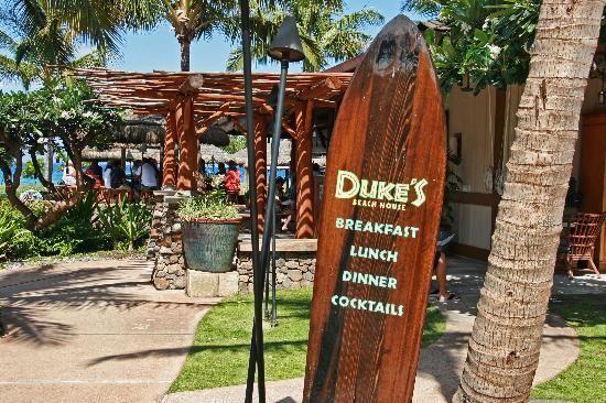 Duke's Restaurant, favourite place on Maui, must try the Pau Hana punch