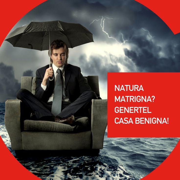 Anche in caso di calamità naturali Genertel Casa ti assicura un rimborso dei danni alla tua abitazione. Scopri di più su http://bit.ly/QualityHome