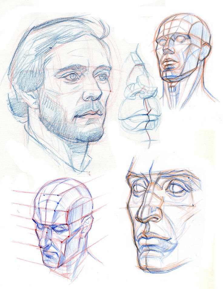 THE HEAD: CONSTRUCTION PLANES AND PERSPECTIVE by AbdonJRomero on deviantART