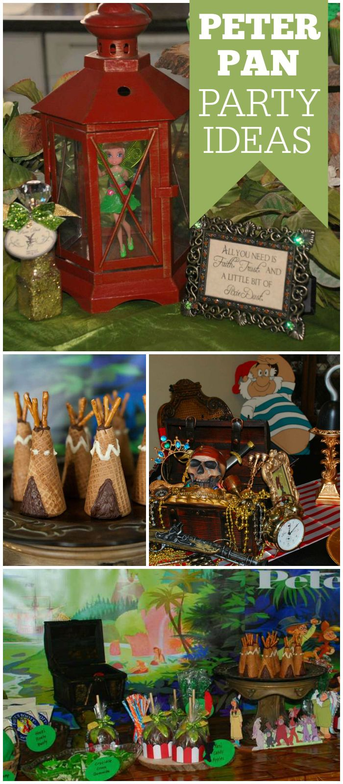 You won't believe the fantastic decorations at this Peter Pan party! See more party planning ideas at CatchMyParty.com!