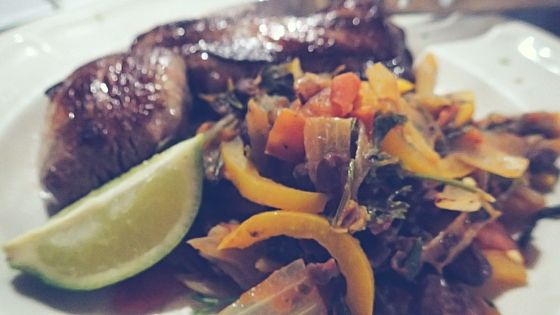 Mexican Steak with Veg Salsa  - great healthy and delicious meal to cook in a hostel or on a camping stove... while on a budget!
