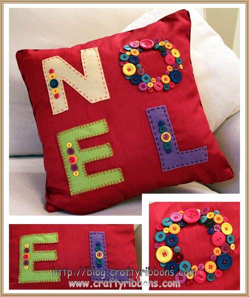 Cute Christmas cushion. I'll probably convert to crochet.
