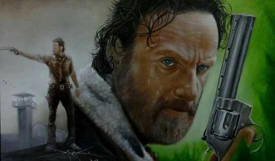 Rick Grimes The Walking Dead - Artist : Daking Y