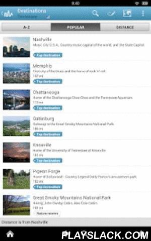 Tennessee Guide By Triposo  Android App - playslack.com , Features of Triposo's guide to Tennessee:★ Suggestions of what's interesting to see and do in Tennessee, depending on time, weather and your location;★ A detailed sights section with all the monuments of Nashville, Gatlinburg, Memphis, Knoxville;★ Eating out section with the best restaurants in Nashville, Gatlinburg, Memphis, Knoxville;★ Discover the nightlife of Tennessee! Bars, pubs & disco's in Nashville, Gatlinburg, Memphis…