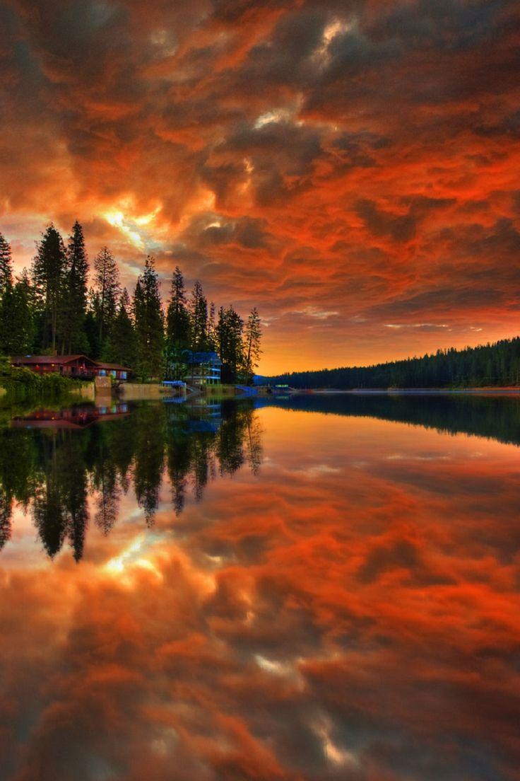 Bass lake, California by Michael De La Paz
