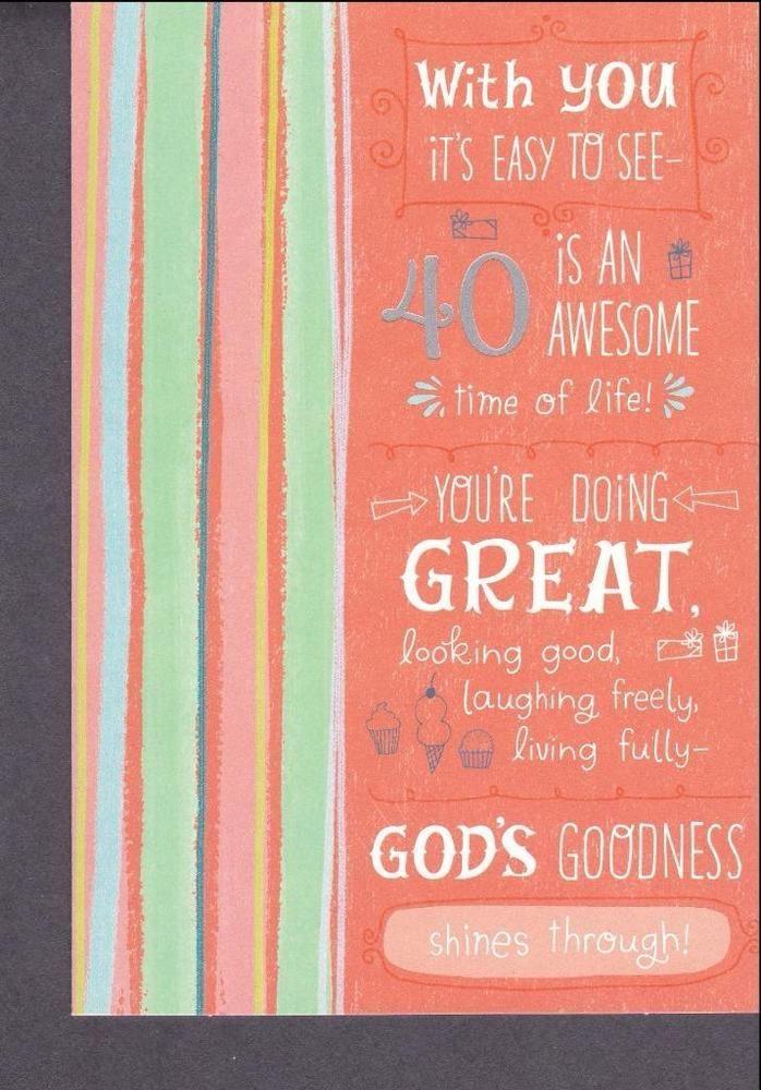 Christian Greeting Card, 40th Birthday #DaySprng #40thBirthday