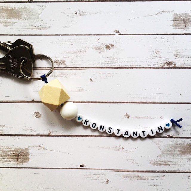 Schlüsselanhänger Namenskette, personalisierbarer Name / Text, Anhänger Rucksack / Tasche, Kindergartentasche, Schlüsselbund