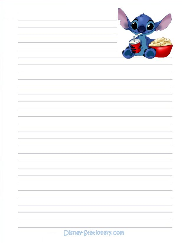 free printable stationery paper | Lilo and Stitch Stationery