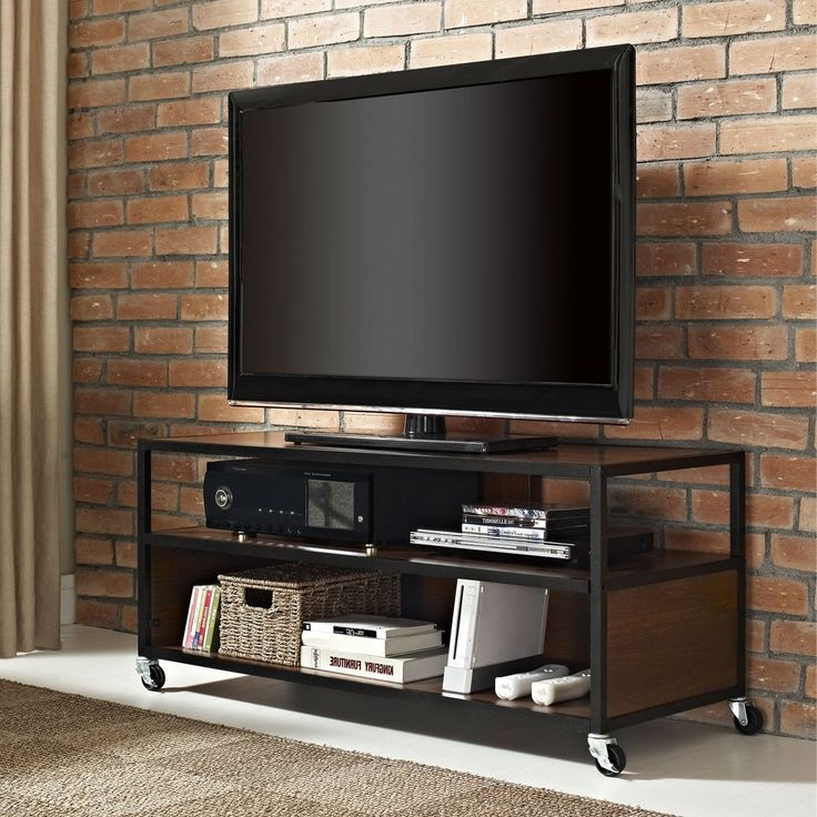 Modern Mobile Tv Stand Entertainment Center Cart With 4