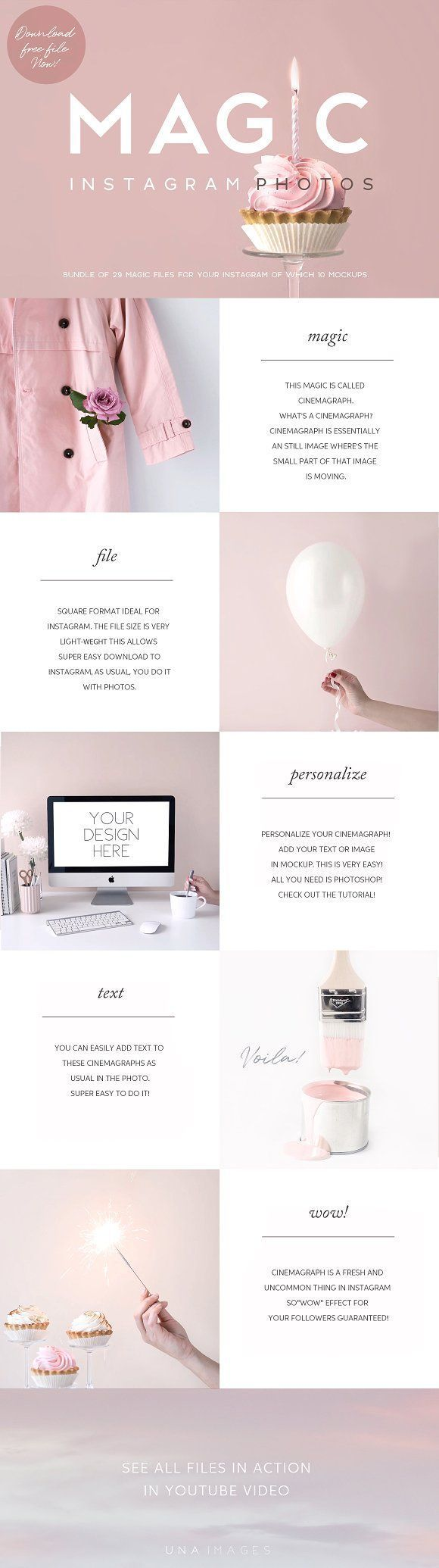 Animated Instagram Photos+FREE FILE  by una images on @creativemarket