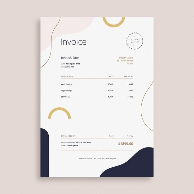 Business Invoice Template Invoice Design Template Invoice Template Invoice Design