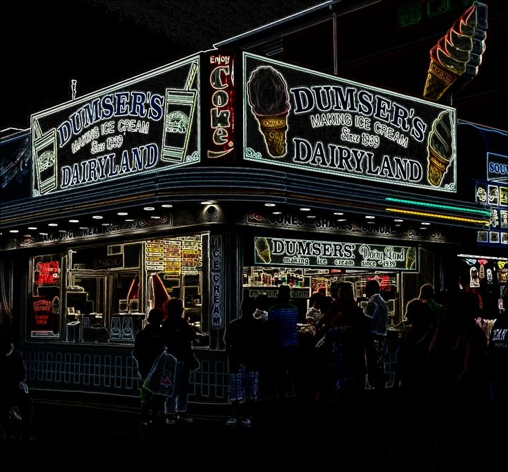 Dumser's Dairyland on the boardwalk....over 75 years in Ocean City ...