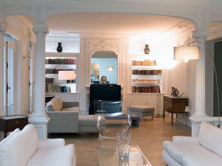 30 best appartement haussmannien images on pinterest - Decoration appartement haussmannien ...