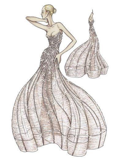 Spring 2009 Atelier Versace: Red Carpet Ruffles and Whorls | POPSUGAR Fashion Photo 4