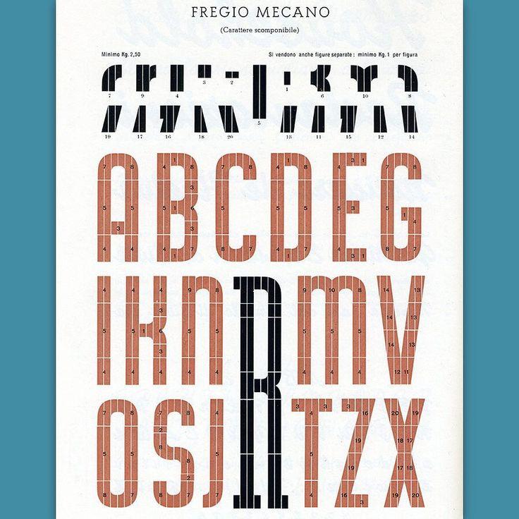 Modular type from Nebiolo. #imageastype #typography #graphicdesign #letterpress #typedesign #typespecimen