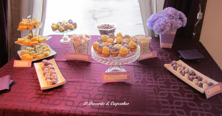 1rst Sweet Table, purple and white