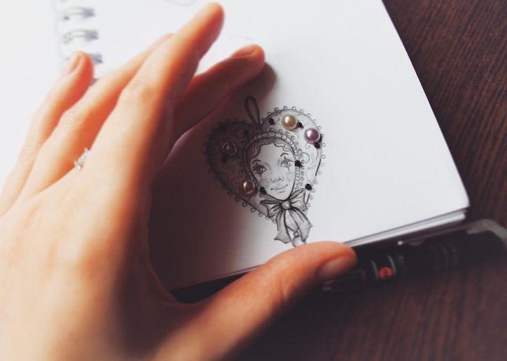 Скоро... #скетч#сердечко#лицо#рисунок#набросок#эскиз #ярисую #простойкарандаш #скетчбук #туапсе#декор#подарок#sketch #idraw #heart #face #decor