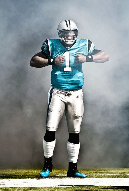 """Cam Newton coming out of the tunnel on game day - """"SUPERMAN"""""""