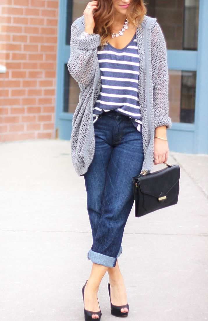 How to Wear and Dress Up a Pair of Boyfriend Jeans | http://somethingaboutthat.com