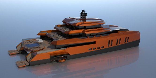 52m catamaran yacht EVA by Misha Merzliakov