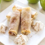 Baked Apple Pie Egg Rolls are a fun and easy to make alternative to apple pie! You won't be able to eat just one!