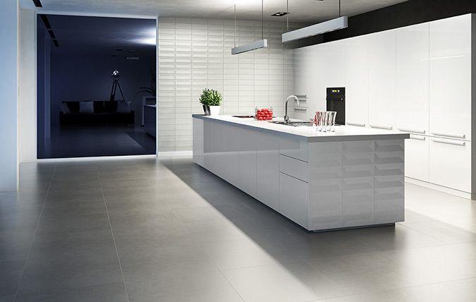 Nowoczesny i zarazem prosty wystrój kuchni - http://www.paradyz.com/plytki/kuchenne/favaro