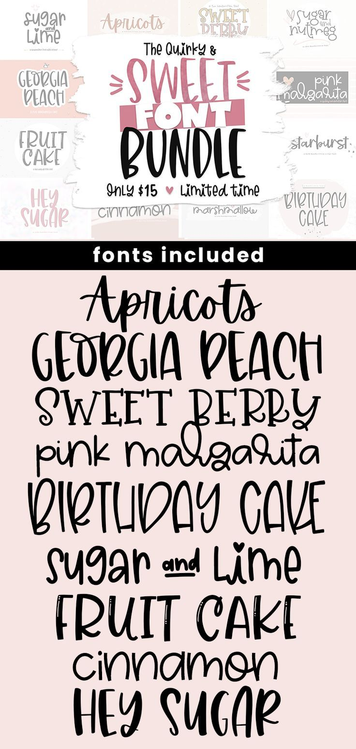 Download Font Bundle 14 Quirky Fonts for Crafters Cute Fonts Cricut ...