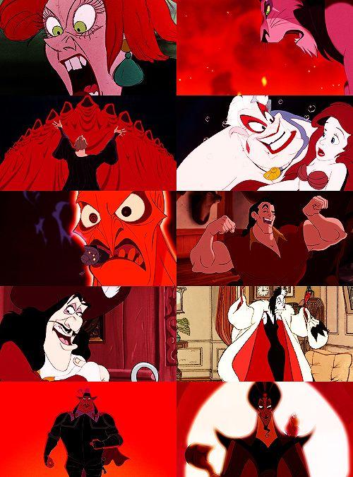 Disney Villains + Colors (Red)