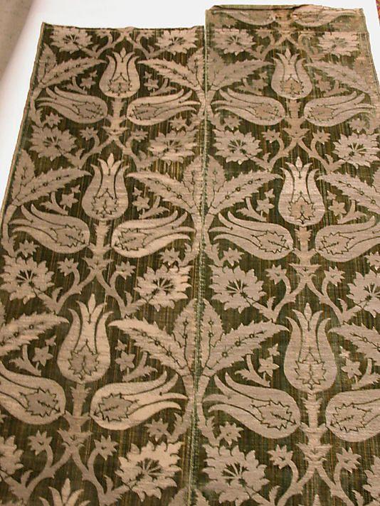 Strip Date: 16th century Geography: Turkey Culture: Islamic Medium: Velvet Dimensions: Textile: L. 102 in. (259.1 cm) W. 48 in. (121.9 cm) Classification: Textiles