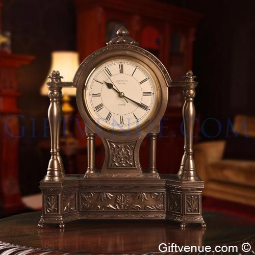 Genesis Fine Arts Bronze Abbey Clock. Top gifts for retirement, wedding, awards