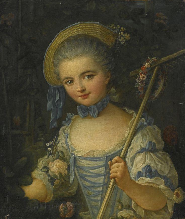 Attributed to François Boucher (1703 - 1770) - Sheperd girl