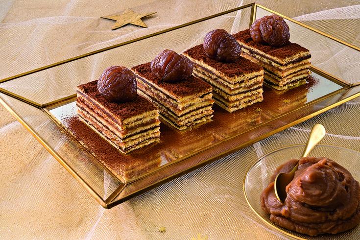 """""""Millestrati"""" al cioccolato e marroni"""