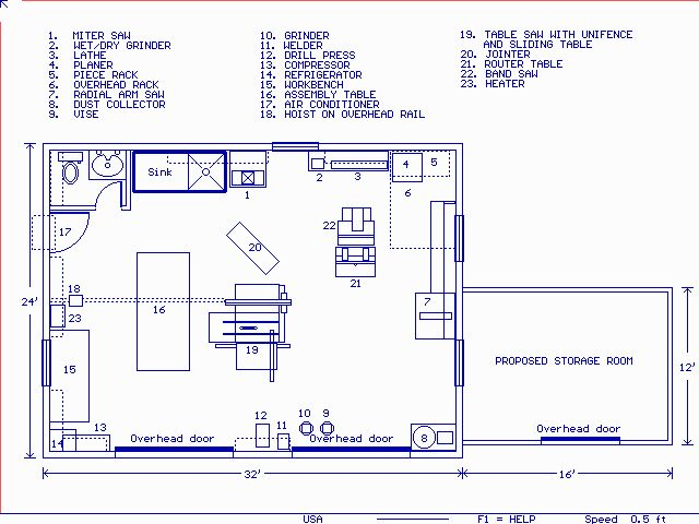 25 b sta woodworking shop layout id erna p pinterest for Woodshop design layout