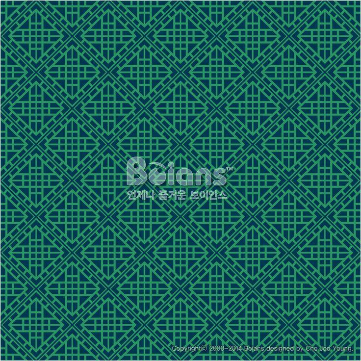 녹색 사각 격자 무늬 패턴. 기하학 패턴. 한국 전통문양 패턴디자인 시리즈. (BPTD020149) Green Colors Square grid Pattern. Korean traditional Pattern Design Series. Copyrightⓒ2000-2014 Boians.com designed by Cho Joo Young.