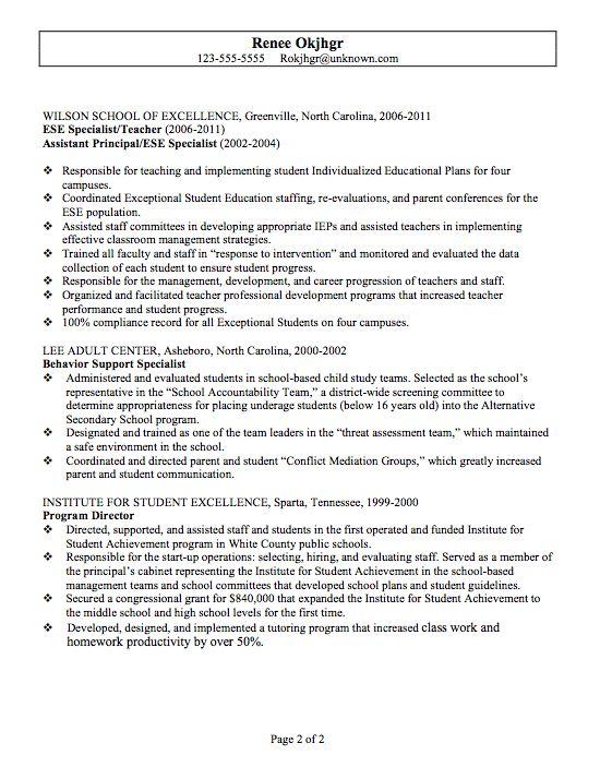 8 best Education Resume Sample images on Pinterest Resume, Car - sample librarian resume