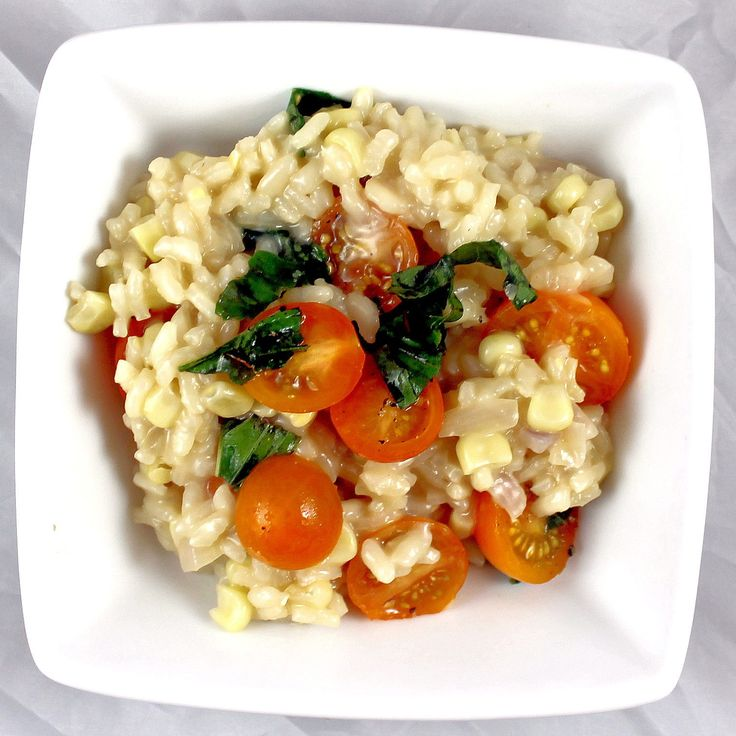 Corn, Tomato & Basil Risotto | Foodie Favorites | Pinterest