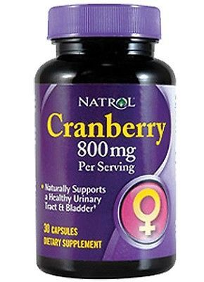 Cranberry Extract 800 mg 30 Caps  Natrol, Urinary Health